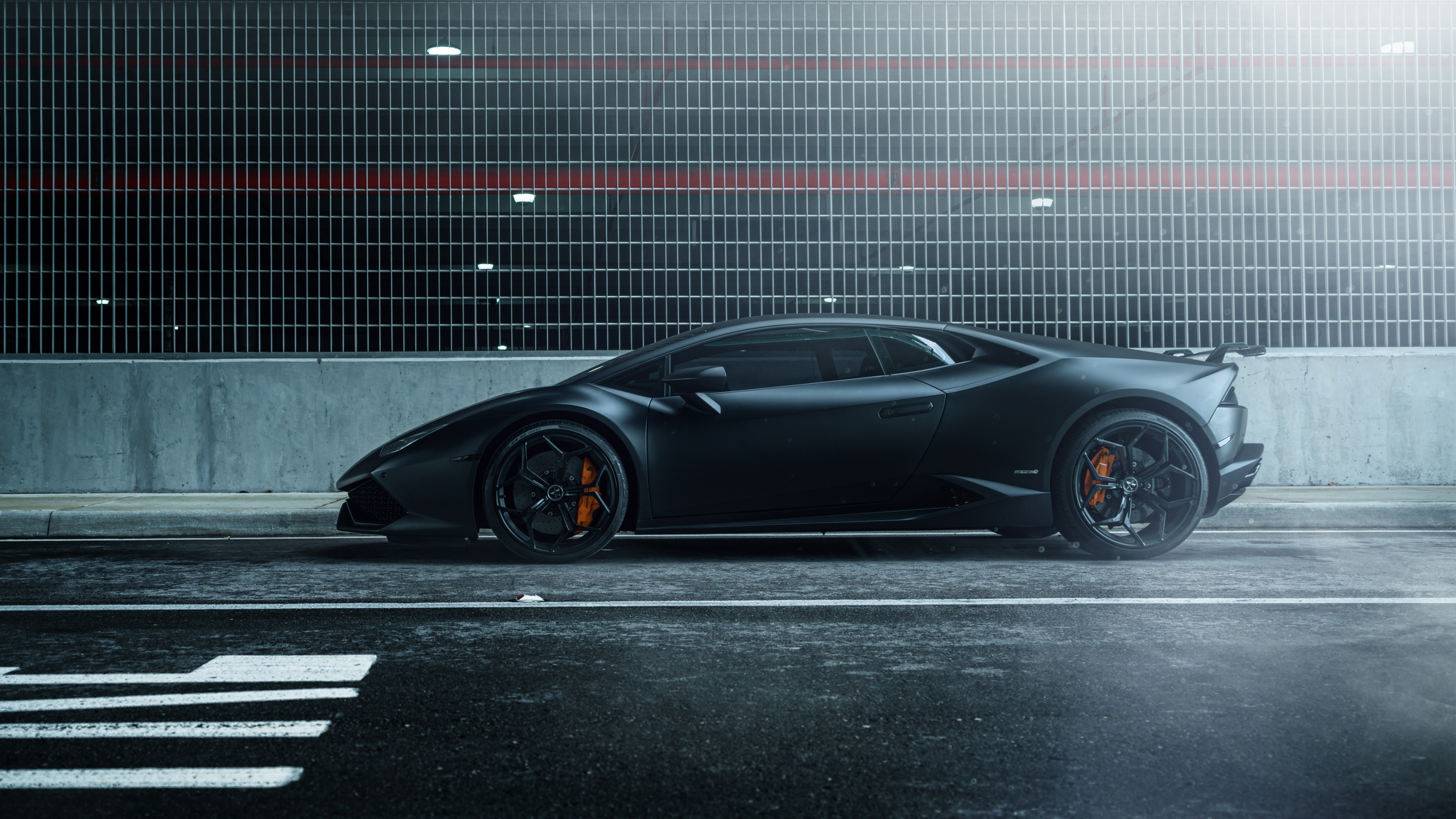 Lamborghini Huracan Vellano MC Matte Black 4K Wallpaper HD Car