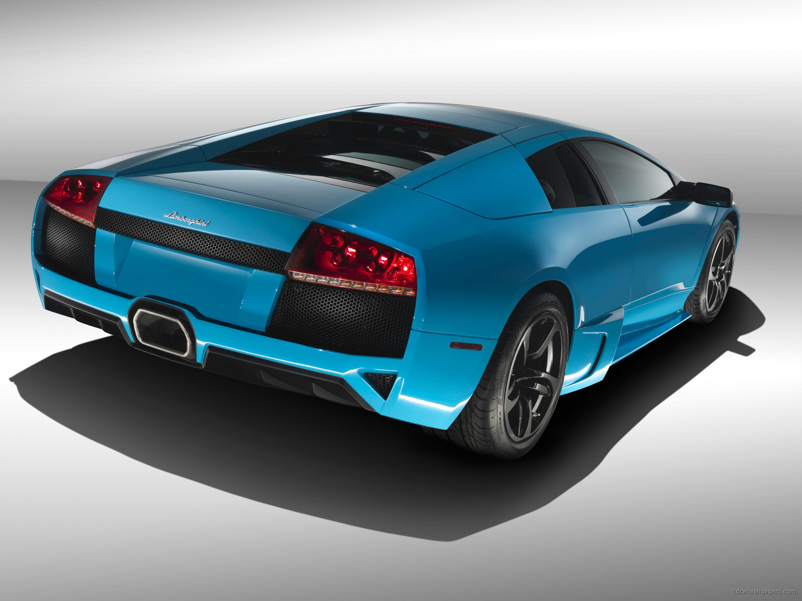 lamborghini murcielago sky blue wallpaper hd car