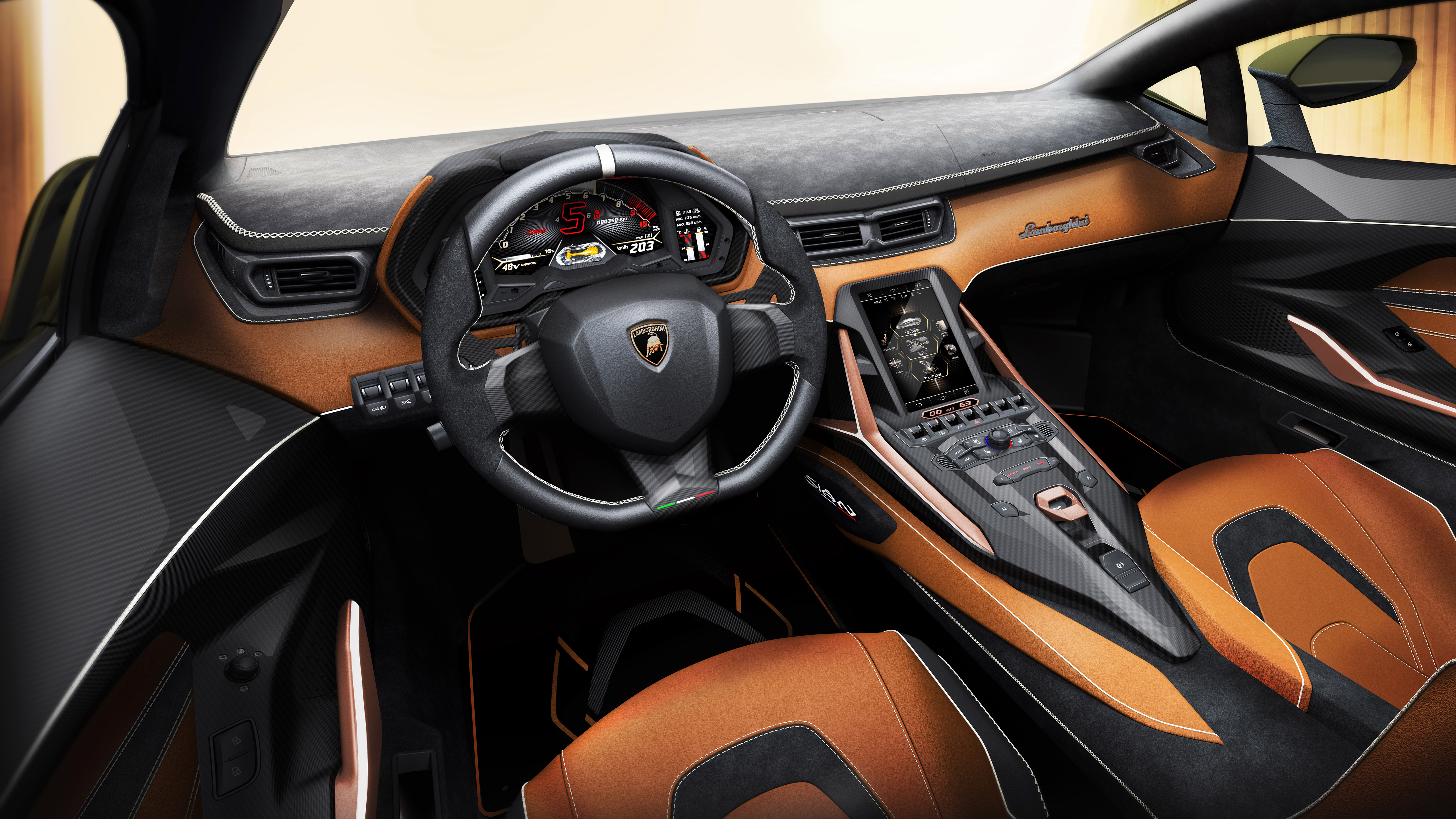 Lamborghini Sian 2019 5k Interior Wallpaper Hd Car