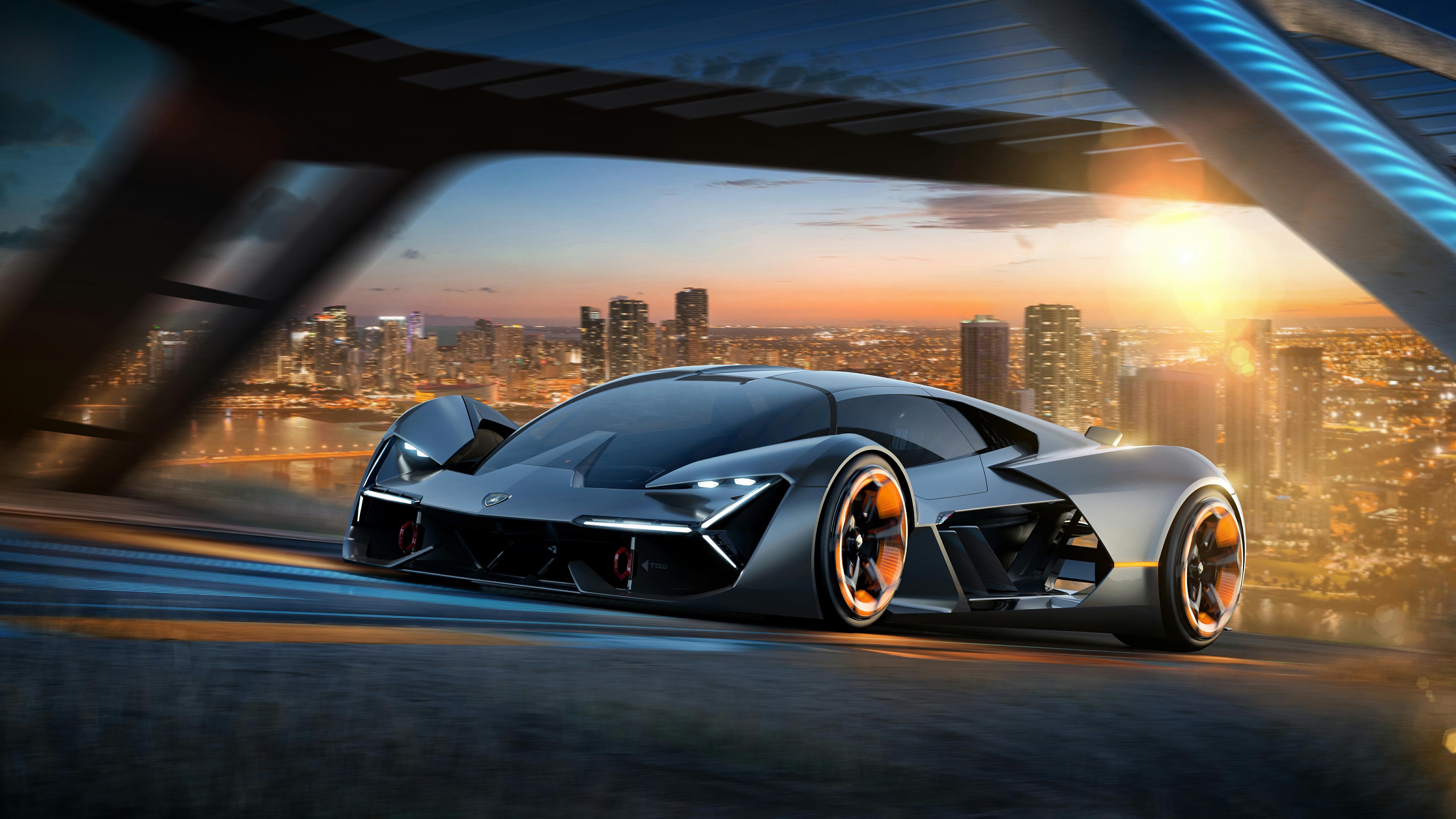 Lamborghini Terzo Millennio EV Supercar 4K