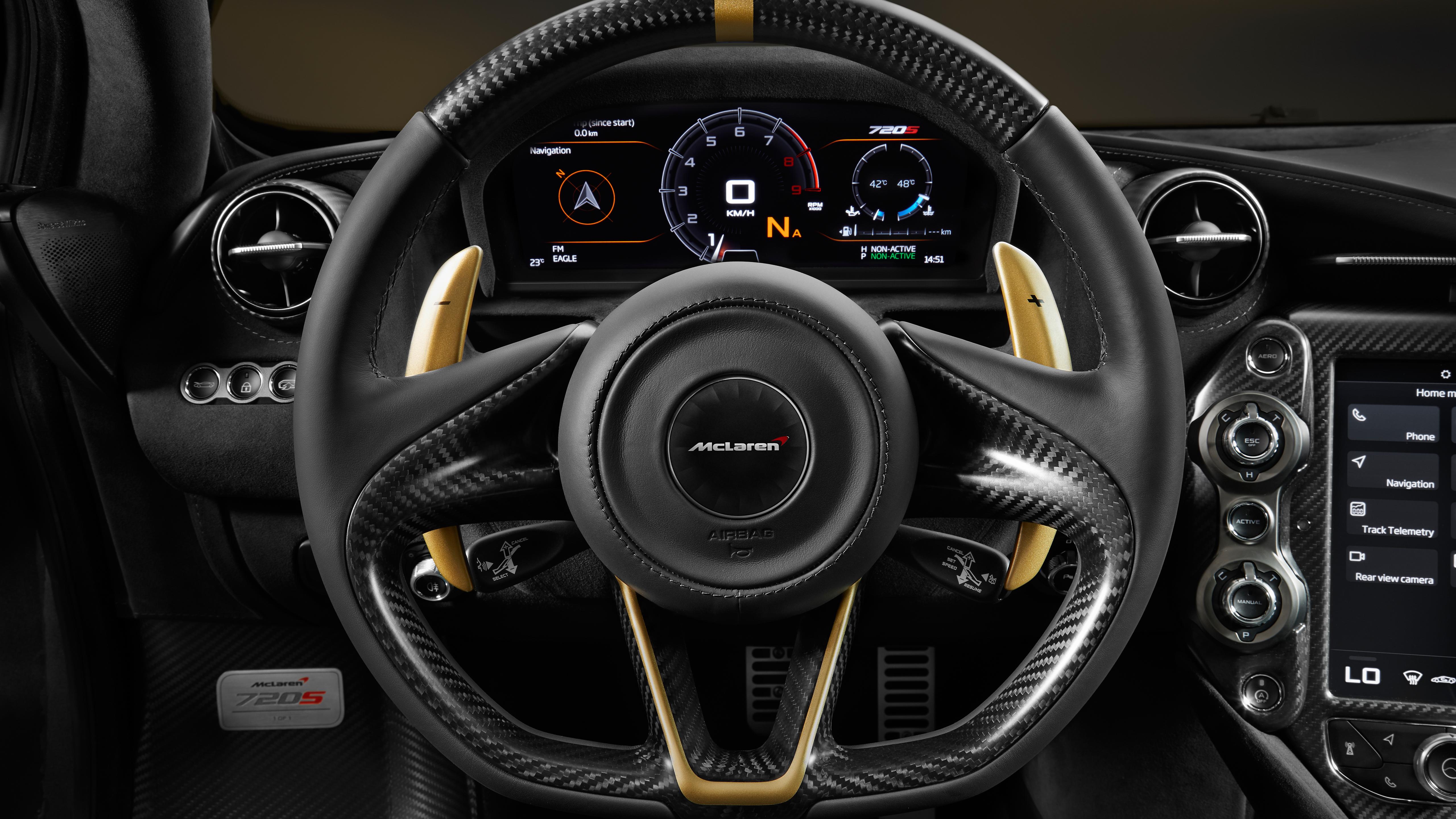 Mclaren 720s Grey Gold Interior 5k Wallpaper Hd Car