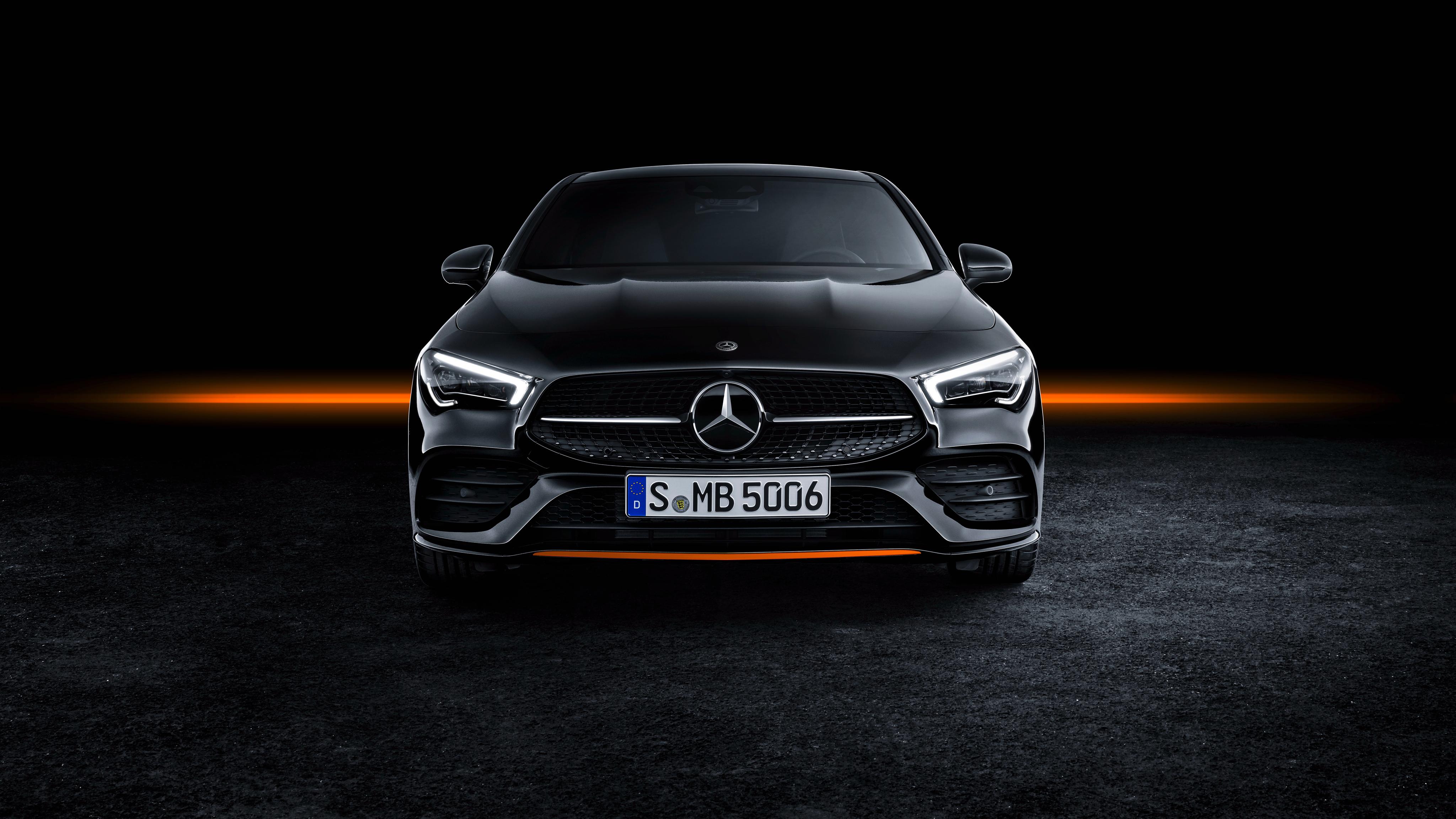 Mercedes Benz Cla 250 Amg Line Edition Orange Art 2019 4k 2