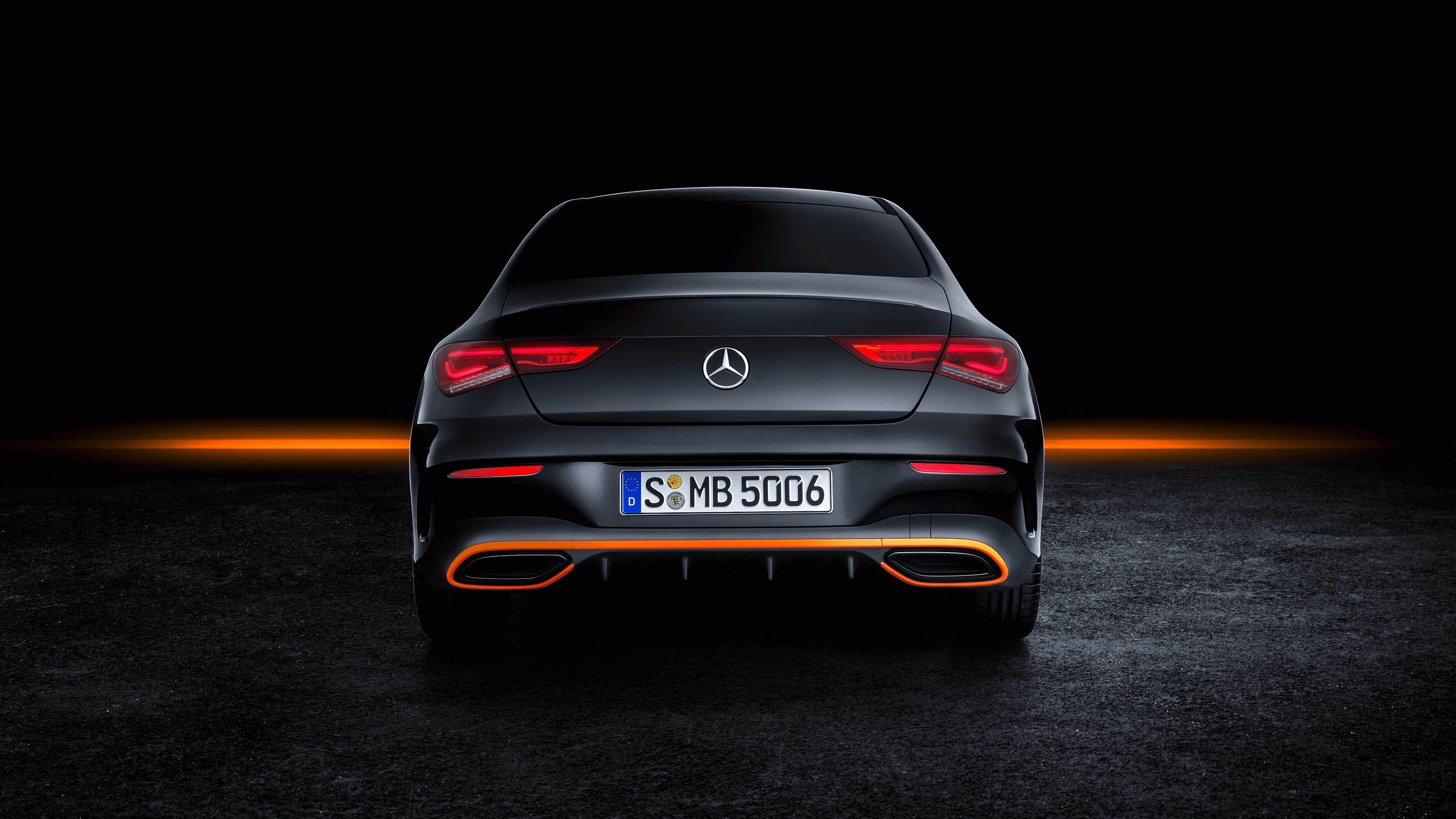 Mercedes Benz Cla 250 Amg Line Edition Orange Art 2019 4k 3