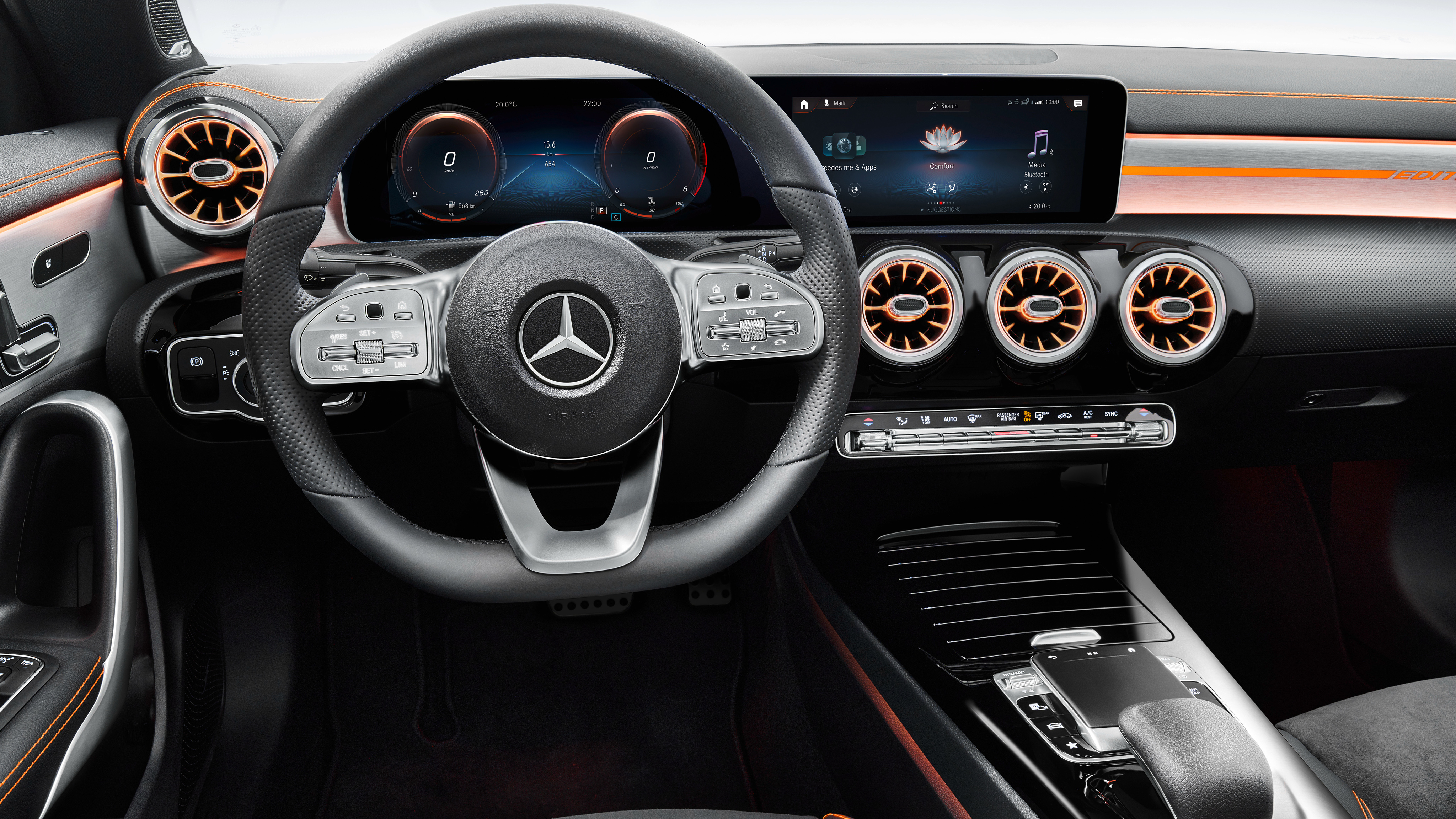 Mercedes Benz Cla 250 Amg Line Edition Orange Art 2019 4k Interior