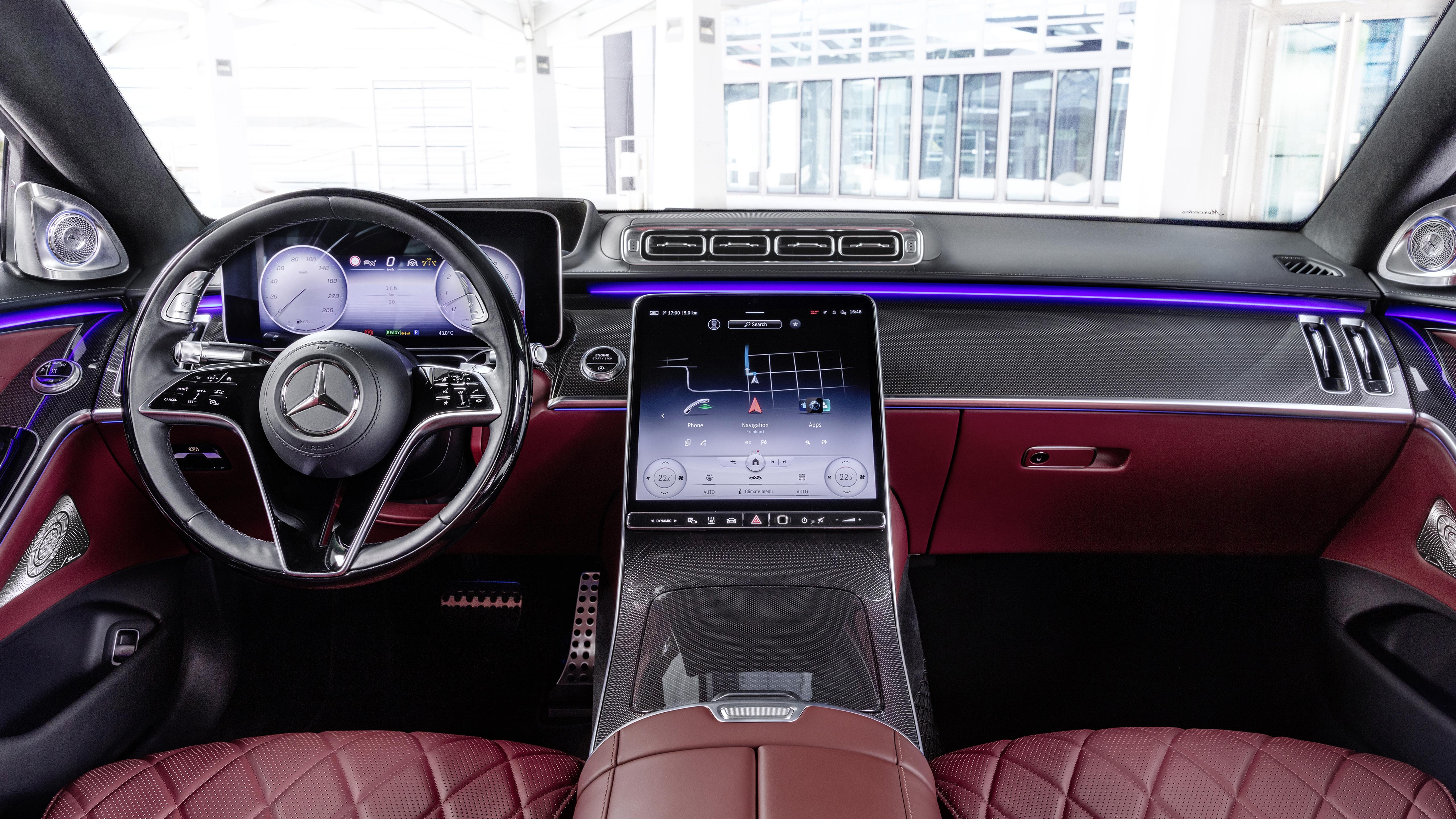 Mercedes-Benz S-Klasse lang AMG Line 2020 4K Interior ...