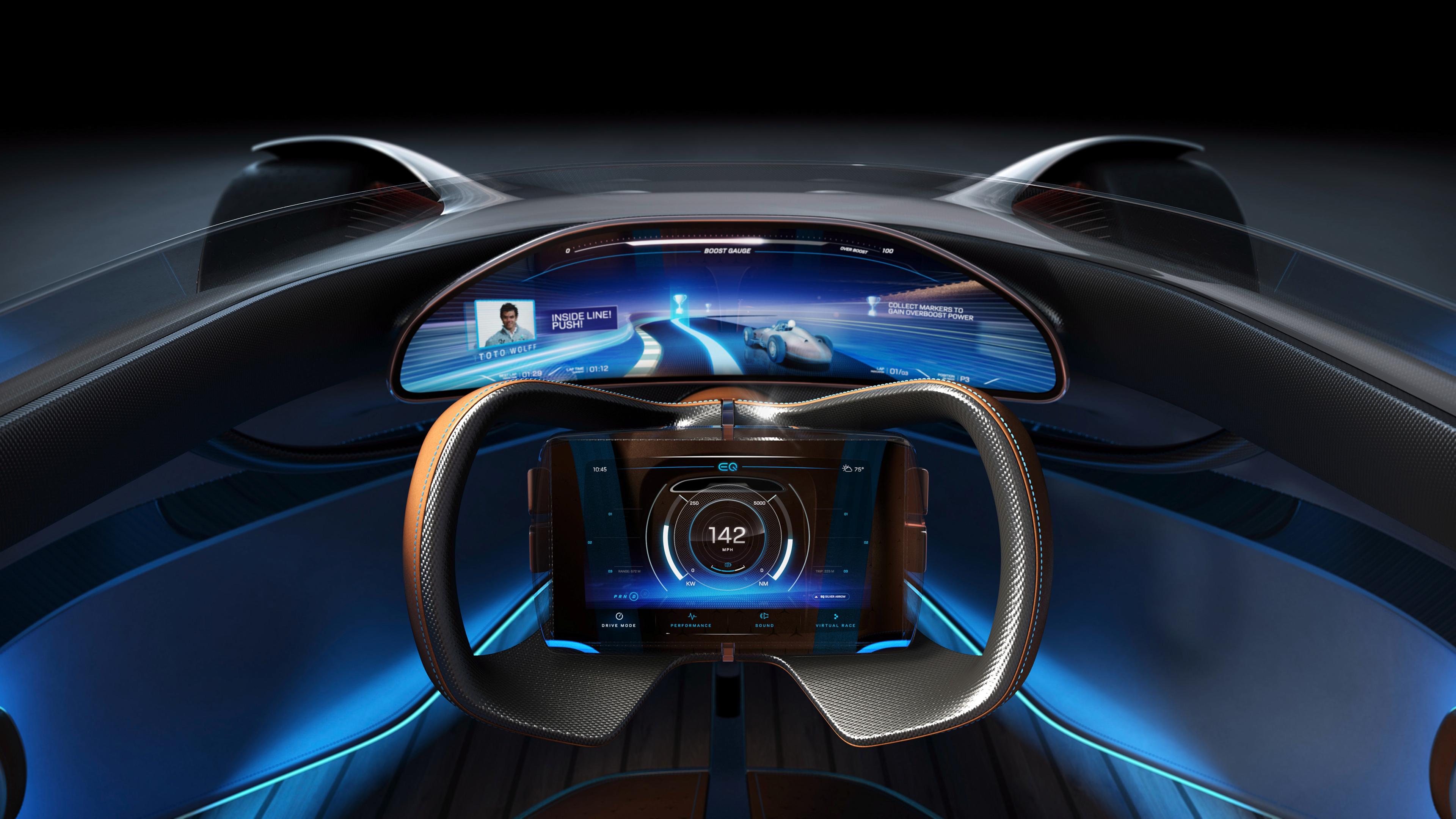 Mercedes Benz Vision Eq Silver Arrow Interior 4k Wallpaper Hd Car Wallpapers Id 11128
