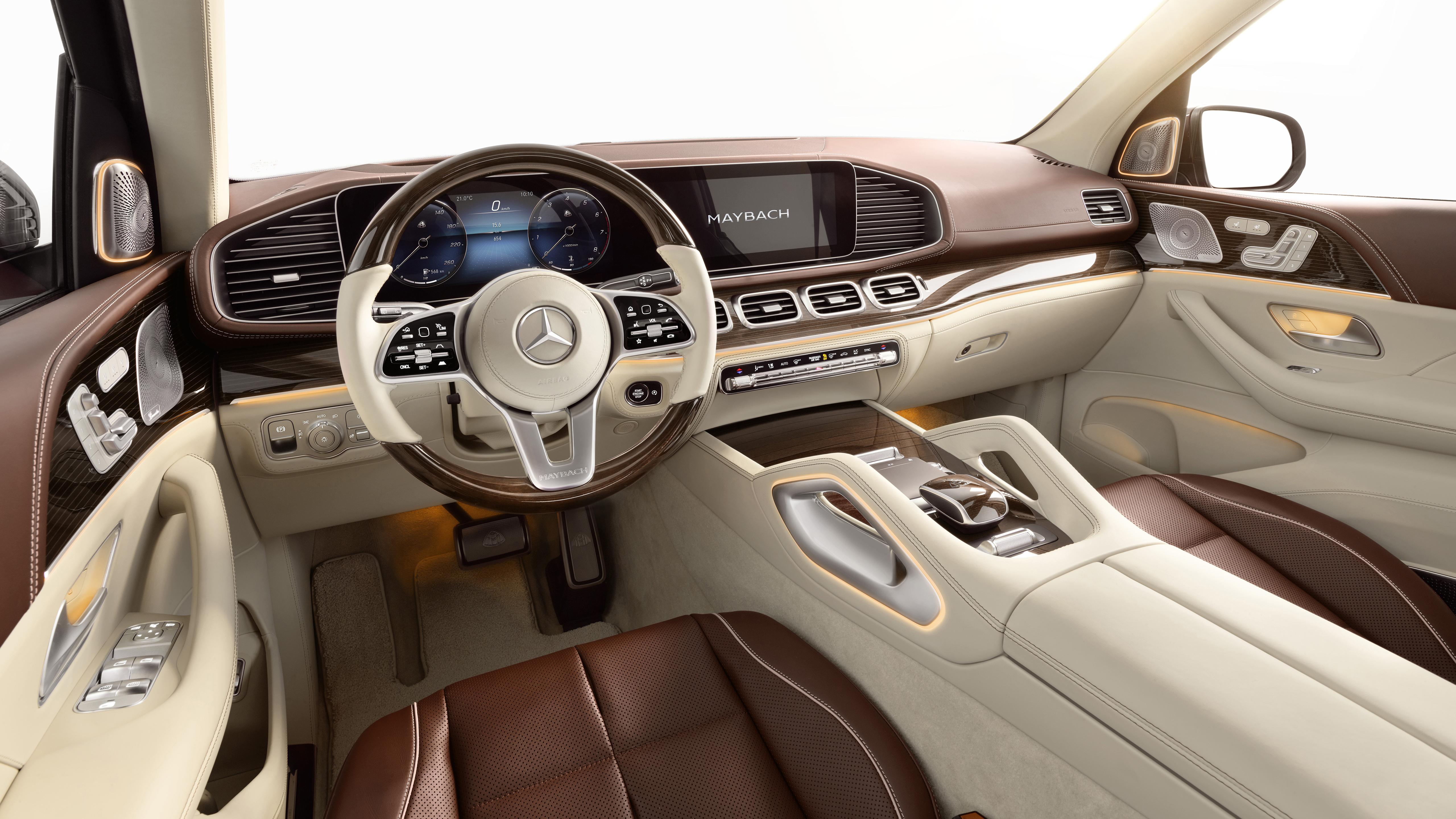 Mercedes-Maybach GLS 600 4MATIC 2020 4K Interior Wallpaper ...