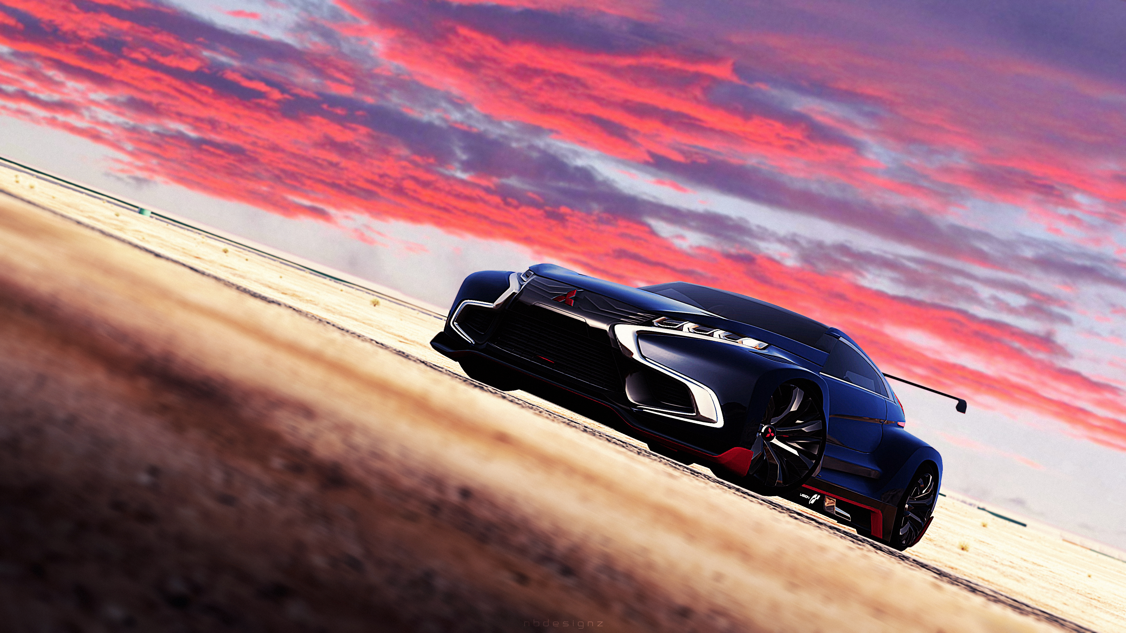 mitsubishi concept xr phev evolution gran turismo 6 wallpaper | hd
