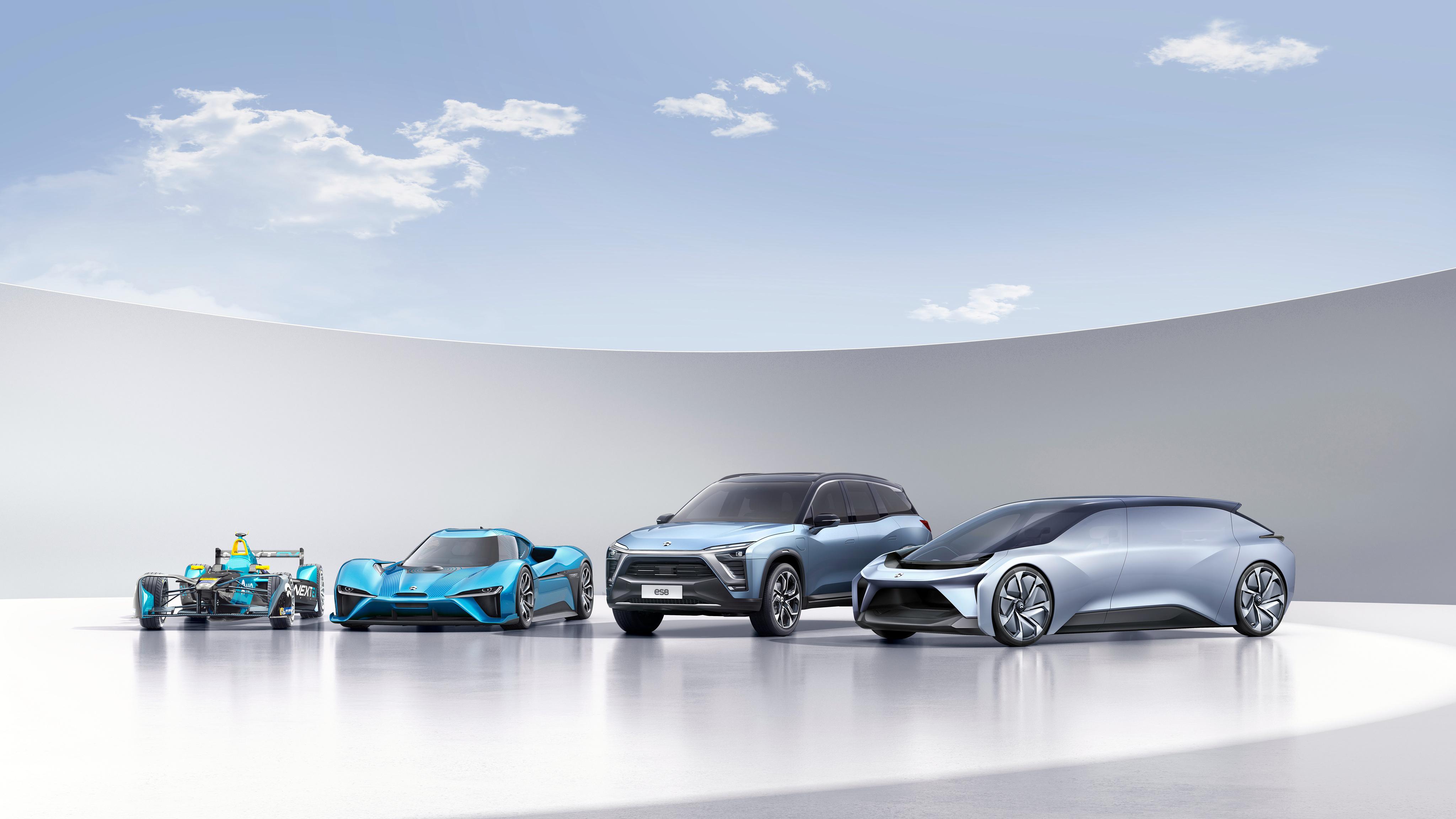 NextEV NIO Electric Cars 4K Wallpaper