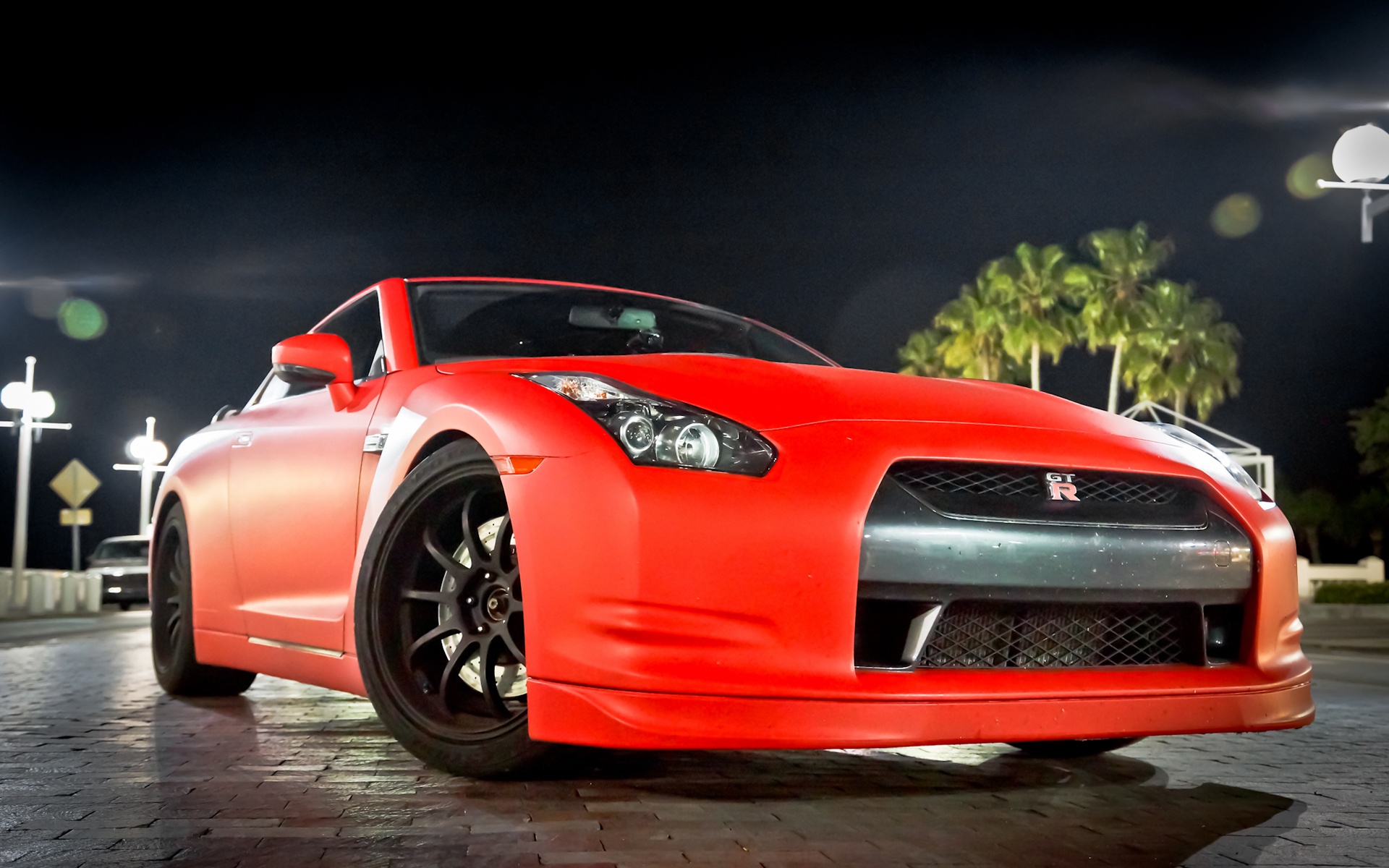 Wallpaper: Nissan GTR Matte Red
