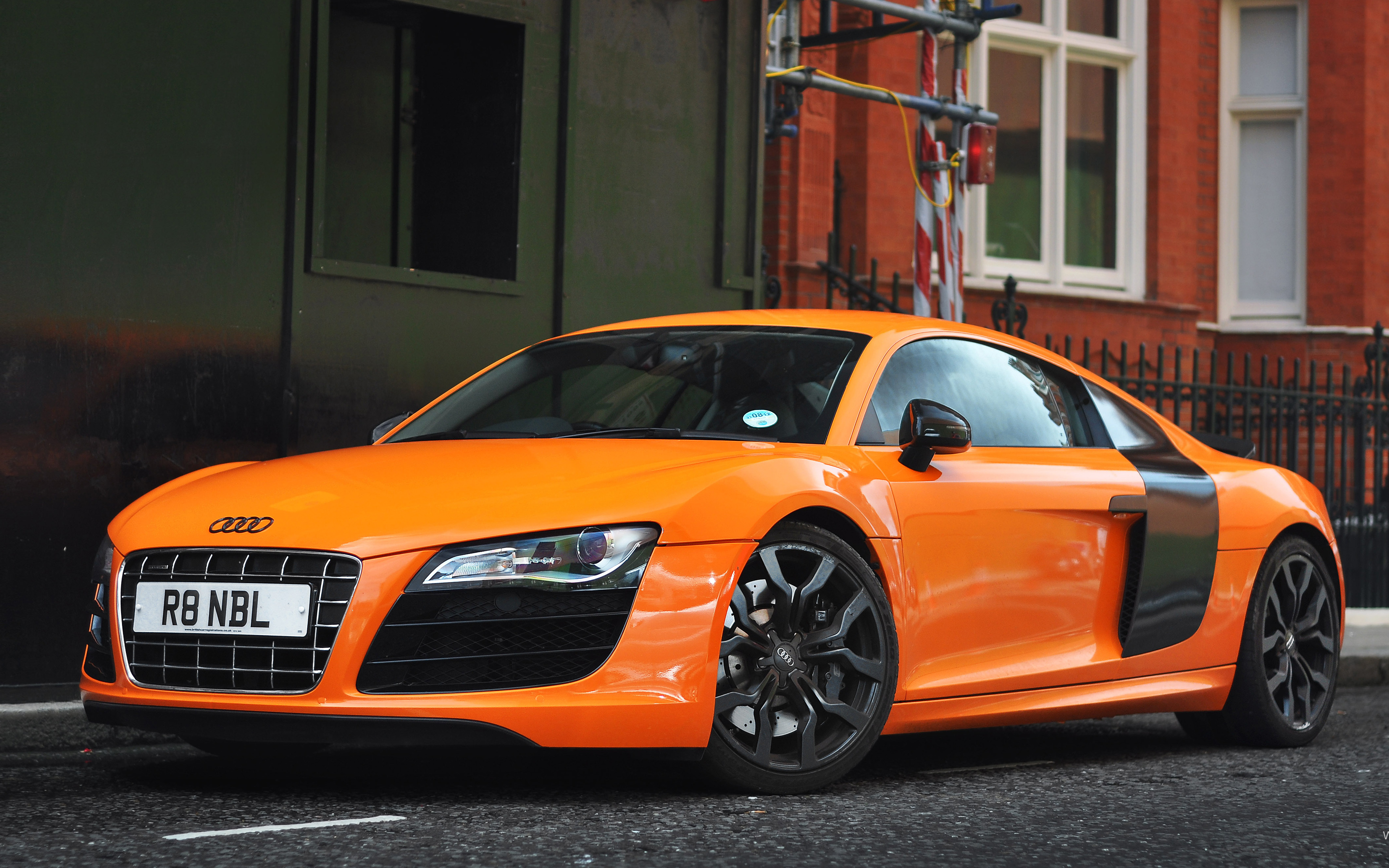 Orange Audi R8 Wallpaper Hd Car Wallpapers Id 2978