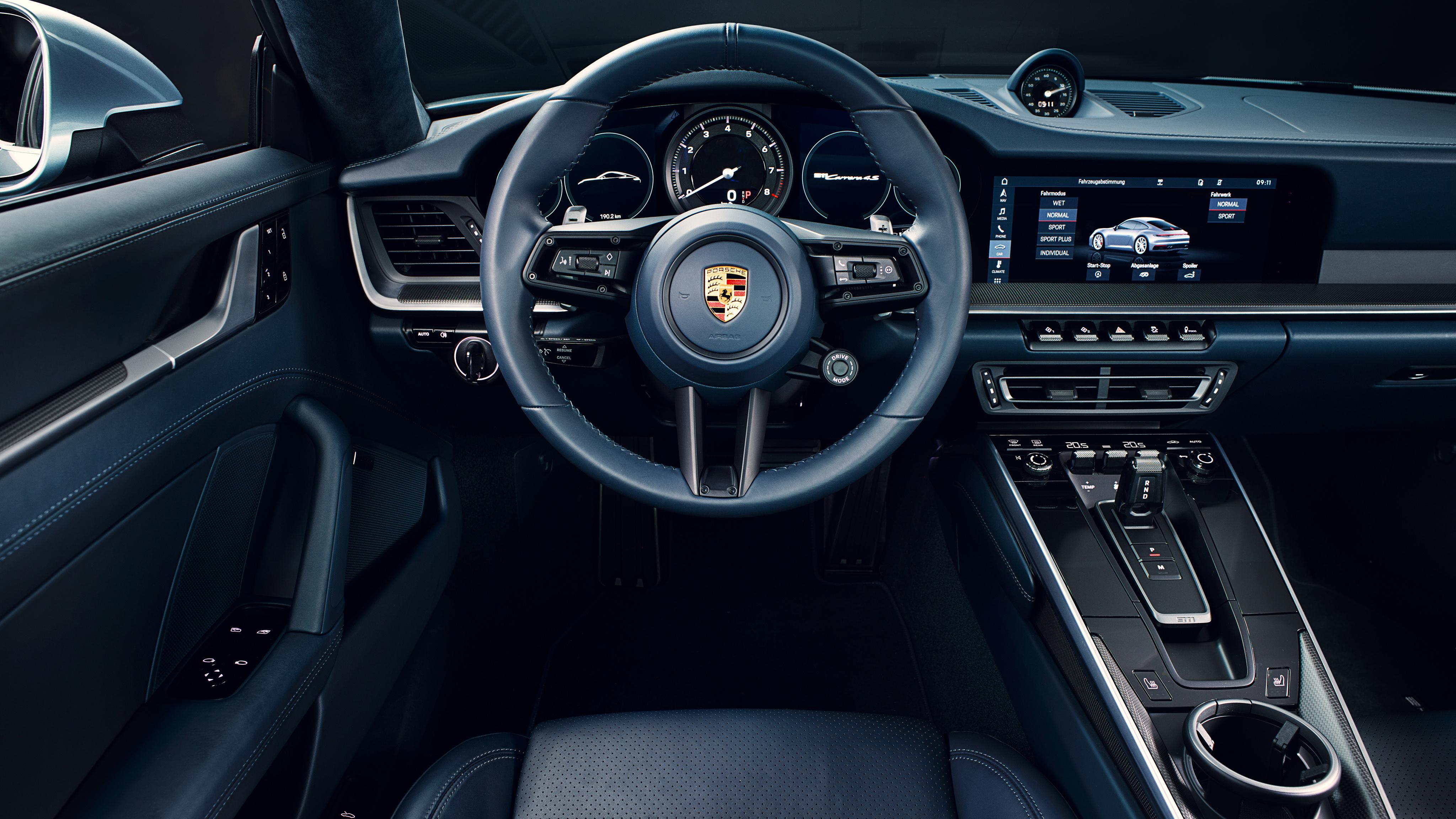 911 Targa 4S >> Porsche 911 Carrera 4S 2019 4K Interior Wallpaper | HD Car Wallpapers | ID #11615