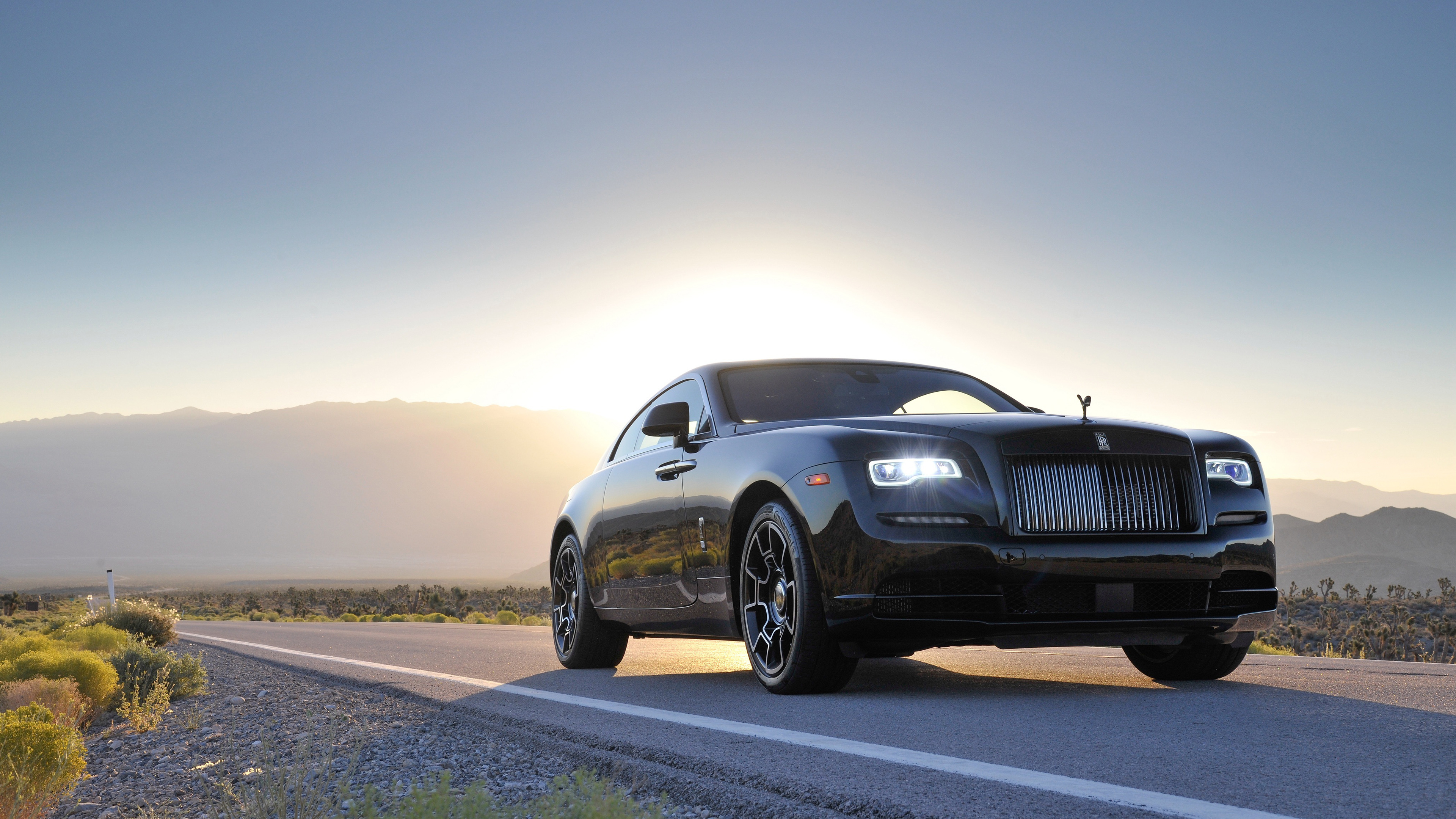 Rolls Royce Wraith Black Badge 4K Wallpaper