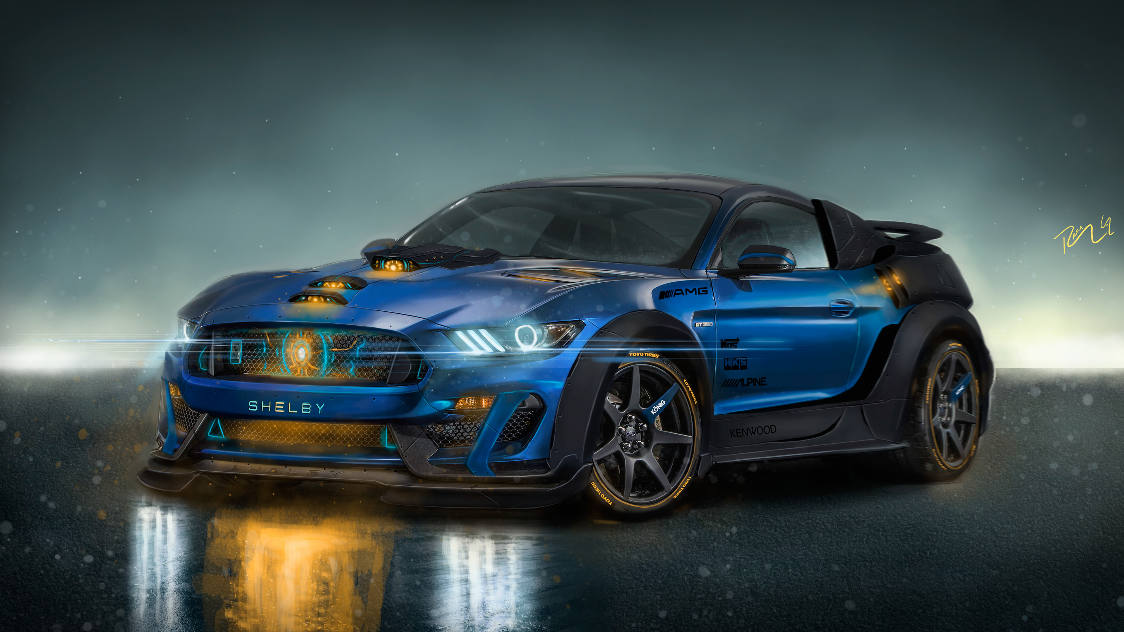 Shelby GT500R Custom CGI 4K Wallpaper