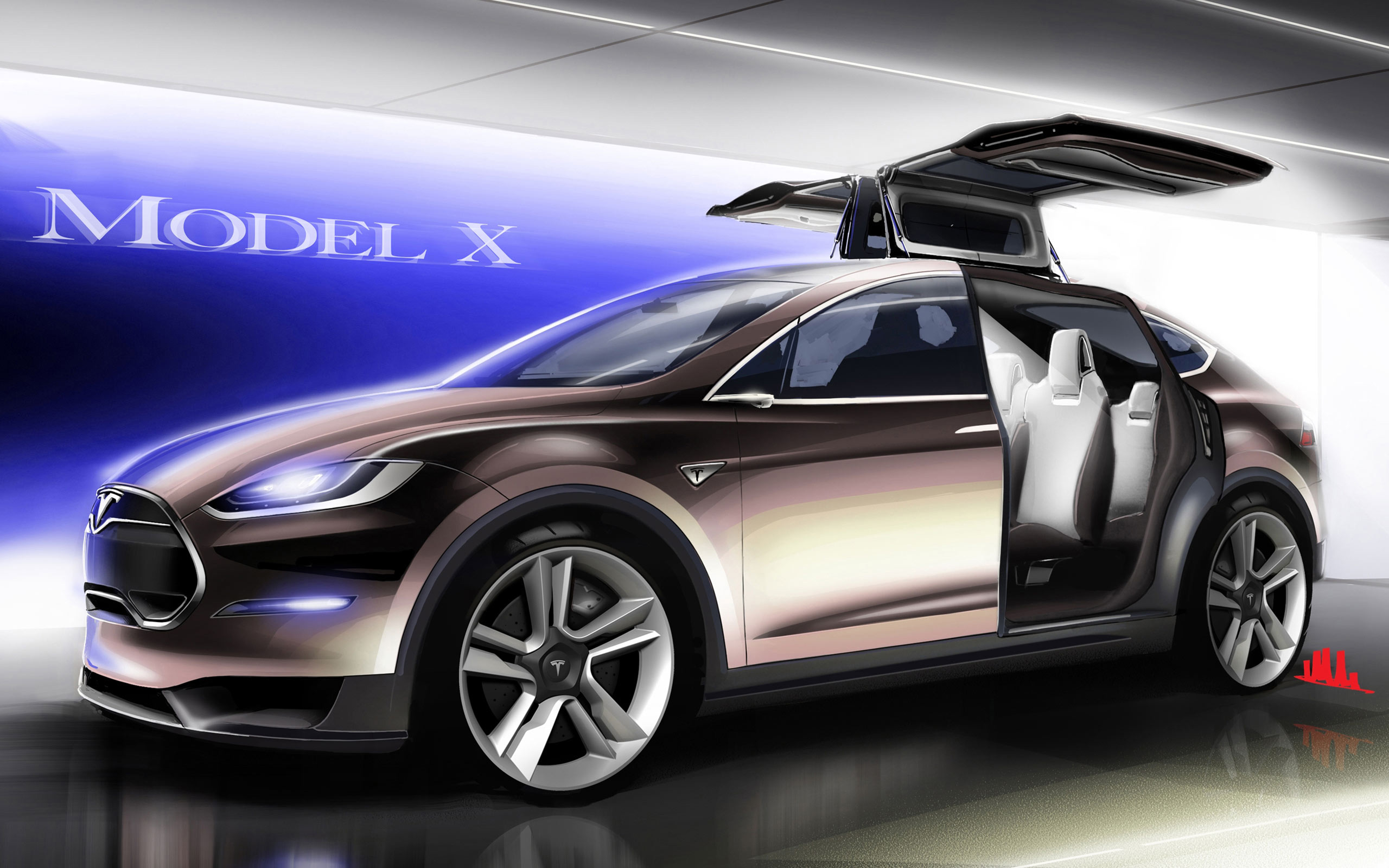 Tesla Model X Wallpaper | HD Car Wallpapers| ID #3202