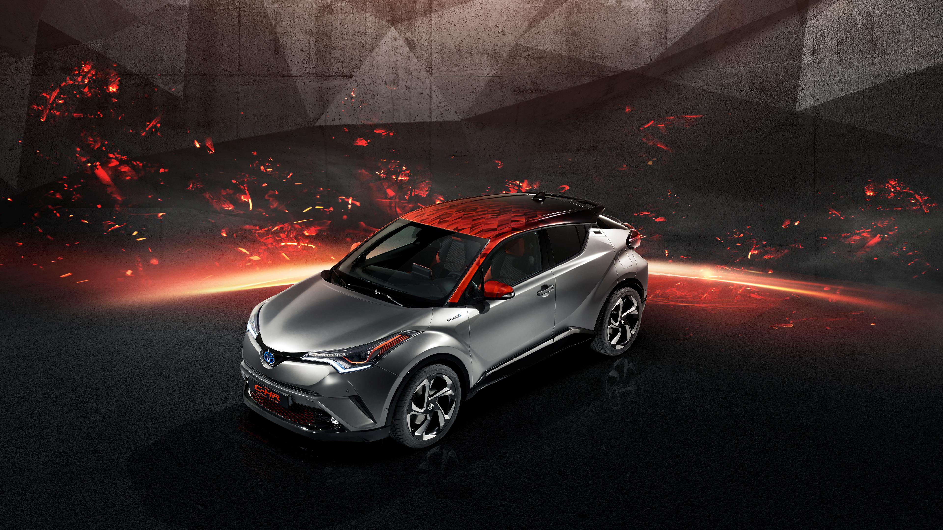 2018 Toyota Rav4 Hybrid >> Toyota C HR Hy Power Concept 2017 Frankfurt Motor Show 4K Wallpaper | HD Car Wallpapers | ID #8526