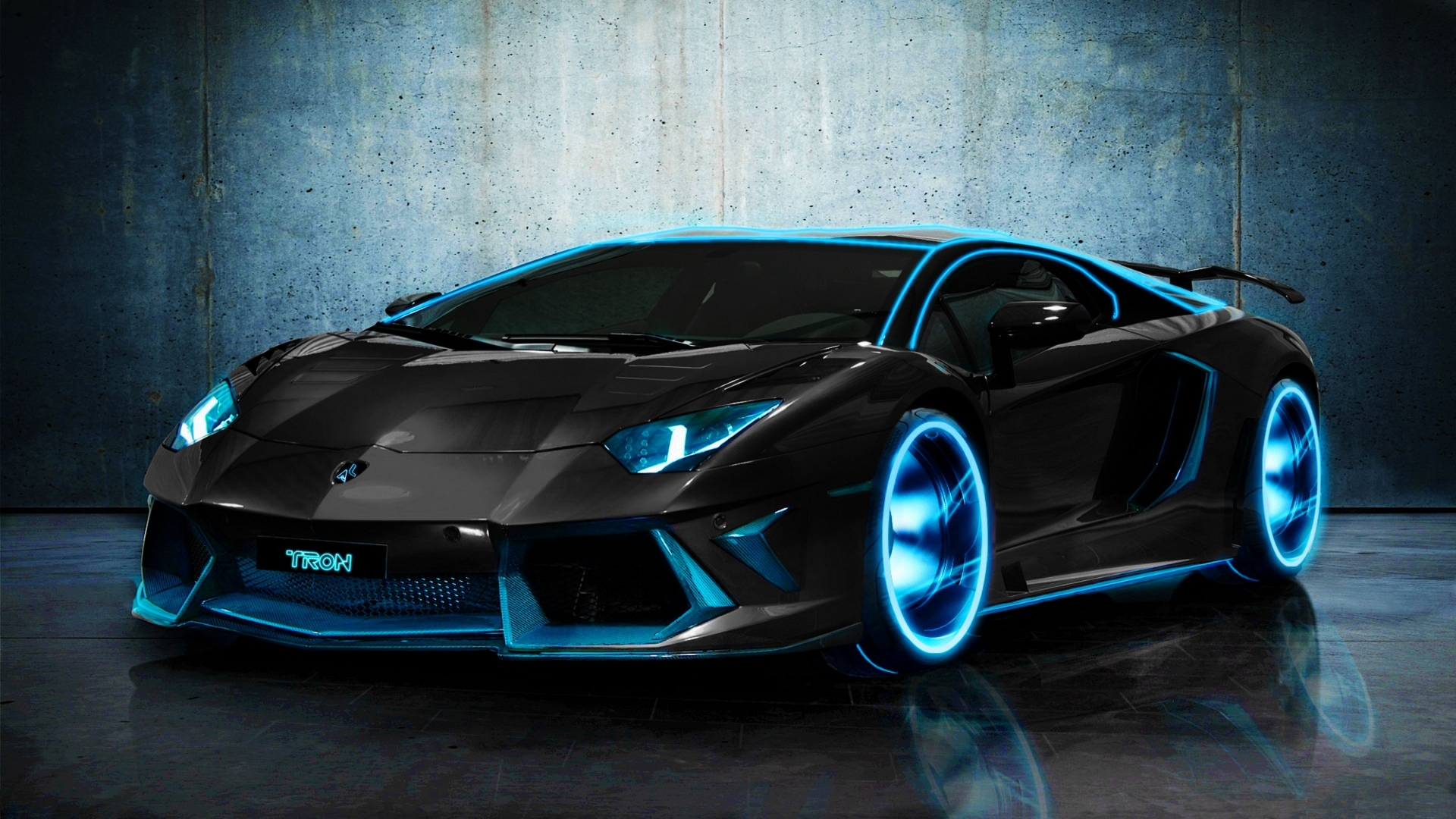 Tron Style Lamborghini Aventador Wallpaper Hd Car Wallpapers