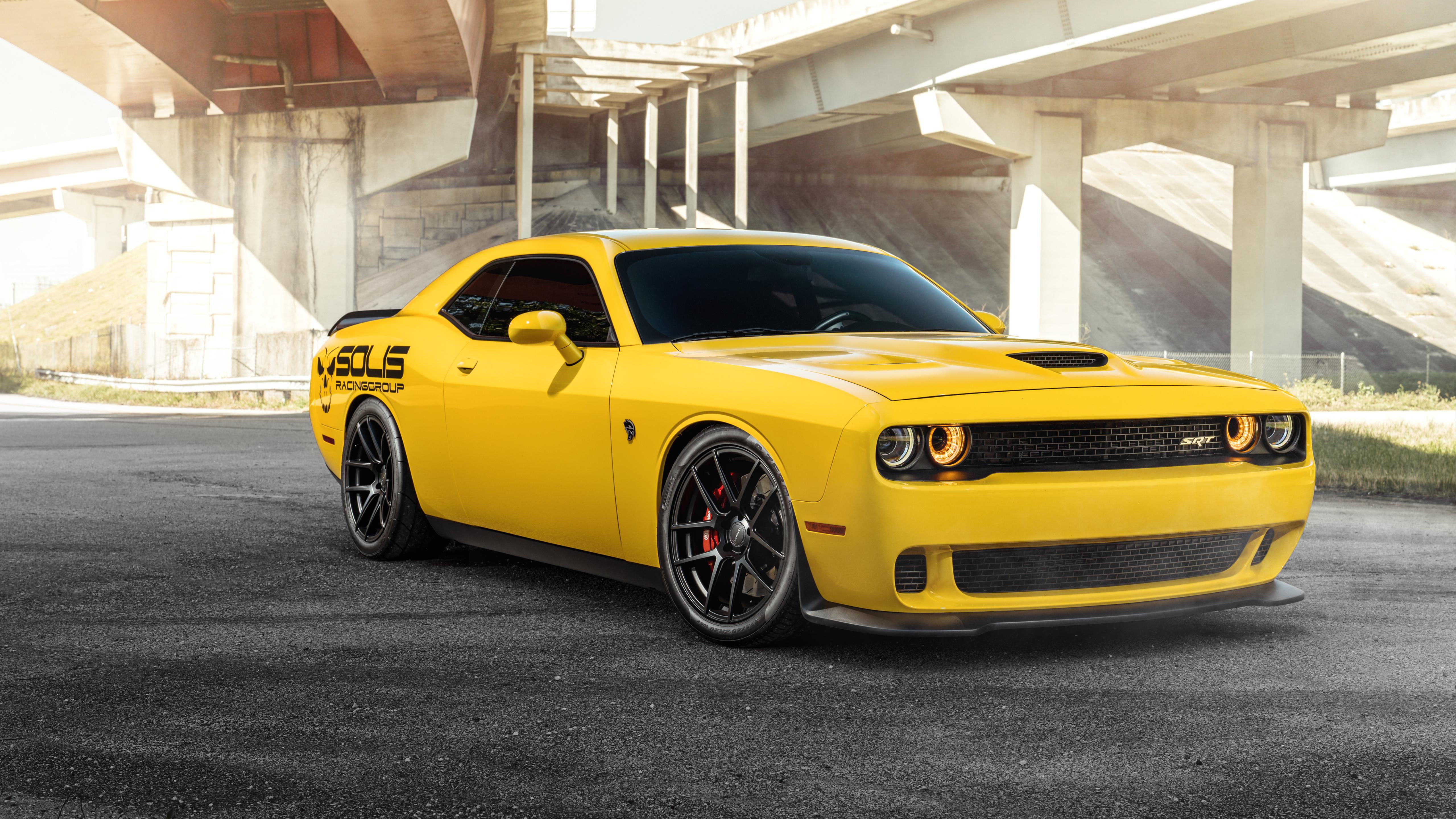 Dodge Viper 2019 >> Velgen Yellow Dodge SRT Hellcat 5K Wallpaper | HD Car Wallpapers | ID #9483