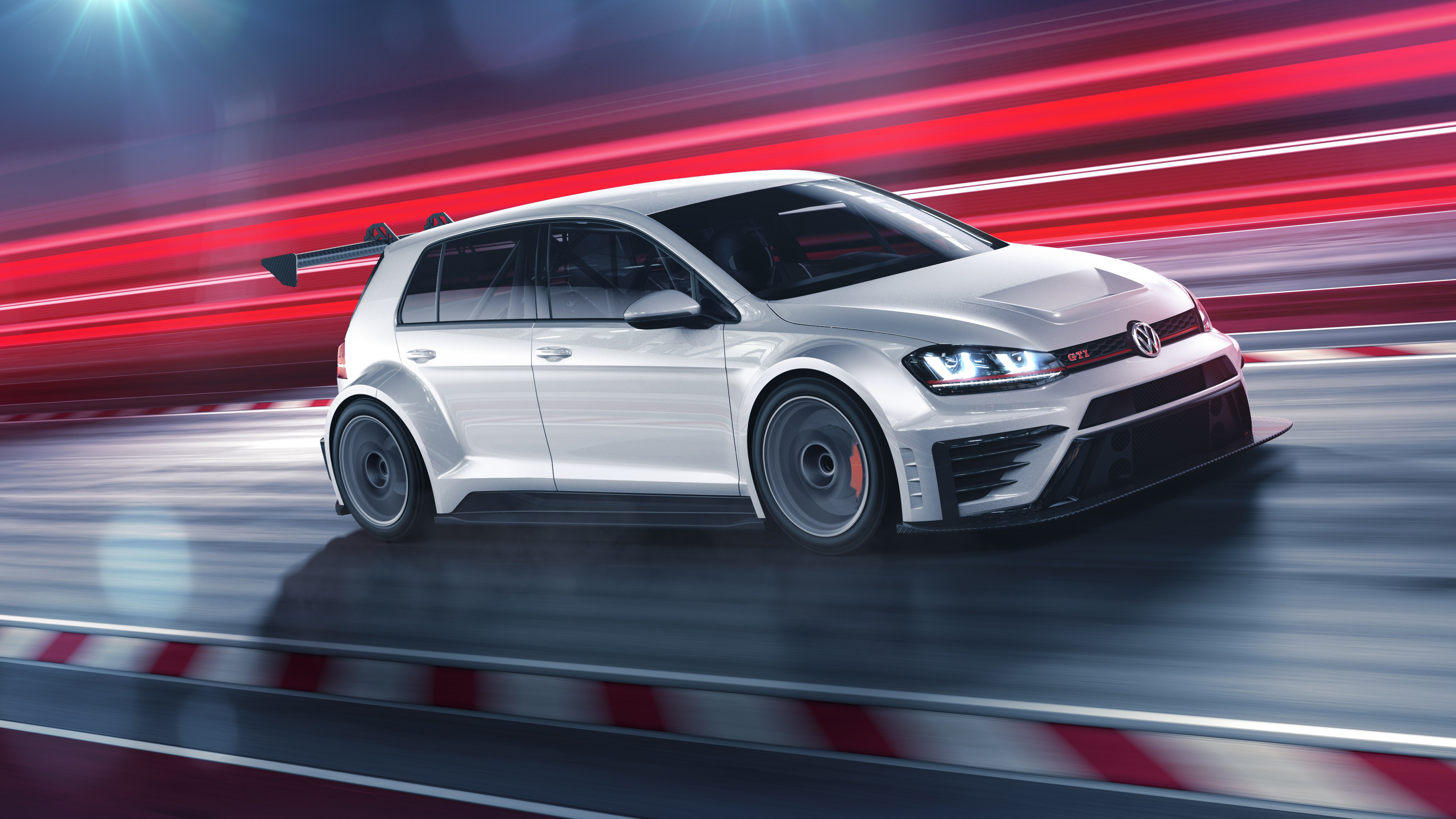 Volkswagen Golf GTi TCR 2016 4K Wallpaper