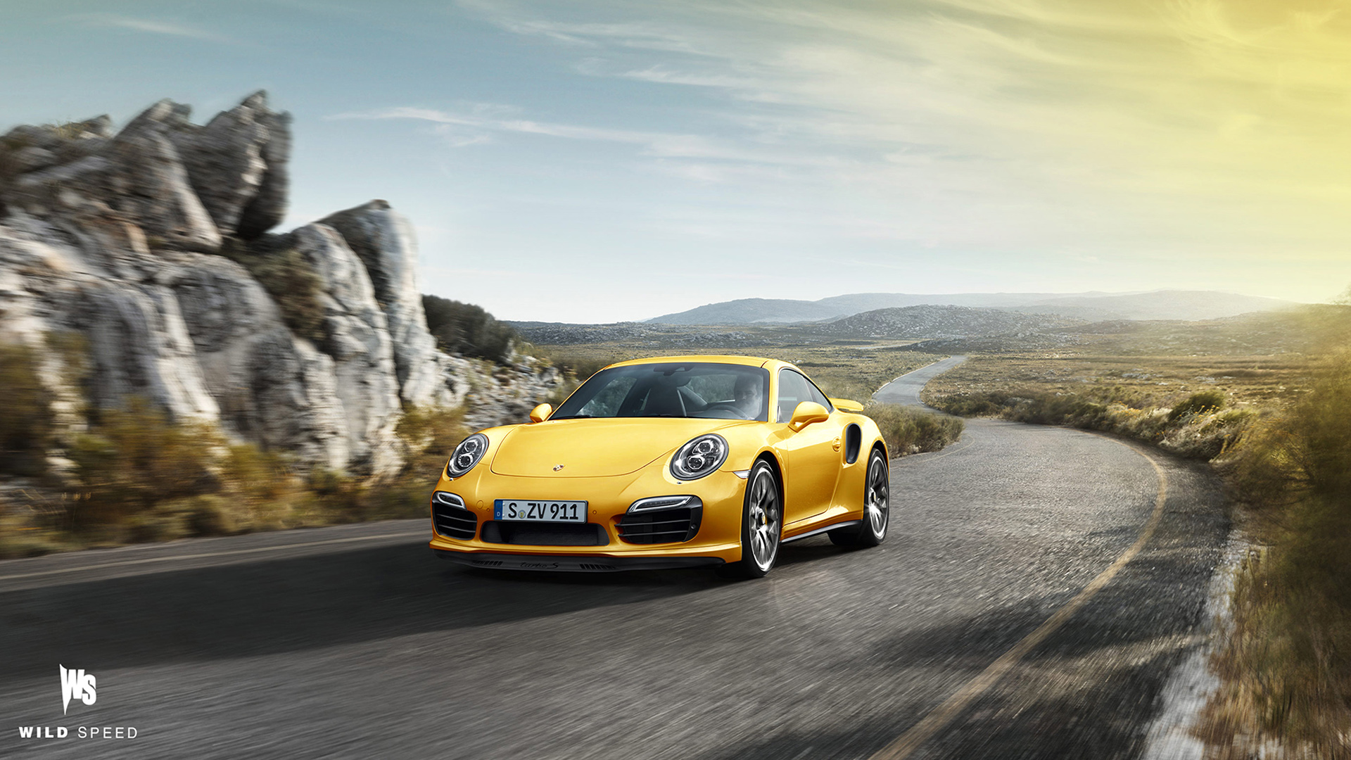 yellow porsche 911 turbo s - Porsche 911 Wallpaper Widescreen